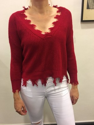Pulover Franža rdeč
