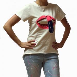 Majica Šminka bela