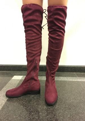 Škornji Vika bordo