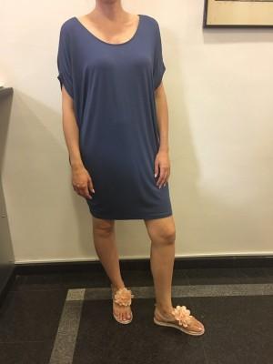 Obleka tunika Sisi modra