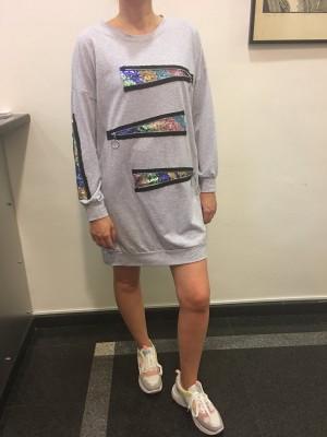 Pulover tunika Zadrga