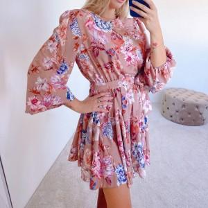 Obleka Flower bež
