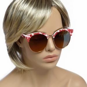 Modna očala Flower rdeča