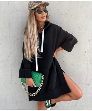 Pulover tunika Maxi črn