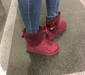 Škornji Ema bordo