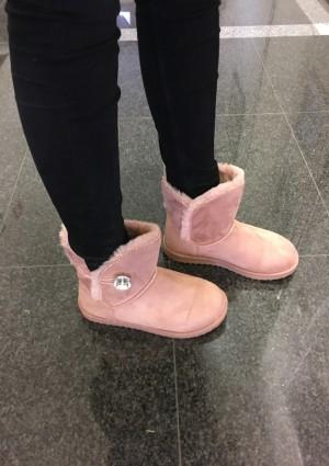 Škornji Goja roza