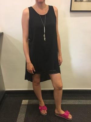 Obleka Shine črna